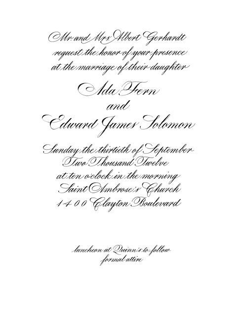 Invitation Gerhardt
