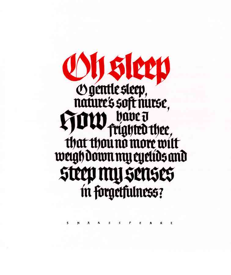O Sleep